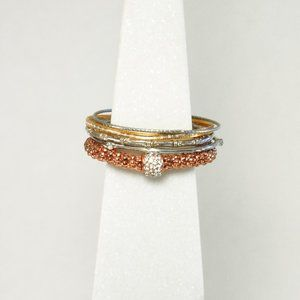 Small Bundle of Bangles w/ Rose Gold Colored Brace